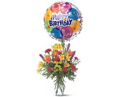 Birthday Balloon Bouquet in DeKalb IL, Glidden Campus Florist & Greenhouse