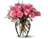 Pink Birthday Roses in Methuen MA, Martins Flowers & Gifts