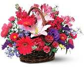 Joyous Birthday Basket in New Iberia LA, A Gallery of Flowers