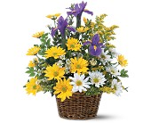 Greensboro Flowers - Smiling Spring Basket - The Flower Shoppe