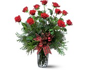 Holiday Red Roses in Weymouth MA, Bra Wey Florist