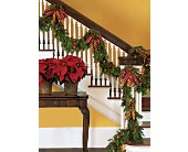 Staircase Garland in Fort Lauderdale, Florida, Brigitte's Flower Shop
