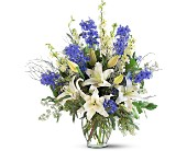 Sapphire Miracle Arrangement in Kansas City KS, Michael's Heritage Florist