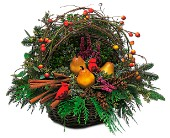 Winter Greens Basket in Hilton NY, Justice Flower Shop