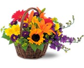Basket of Blooms in Charlotte NC, Starclaire House Of Flowers Florist