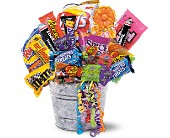 Junk Food Bucket in Tuscaloosa AL, Pat's Florist & Gourmet Baskets, Inc.