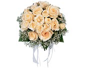 Hand-Tied White Roses Nosegay in Rock Island, Illinois, Colman Florist
