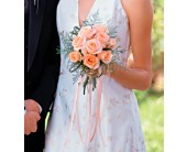 Peach Promise Bouquet in St. Helens OR, Flowers 4 U & Antiques Too