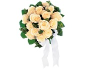 Bountiful White Roses Nosegay in Rock Island IL, Colman Florist