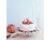 Pink Adornment Cake Top in Evansville, Indiana, Cottage Florist & Gifts