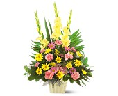 Warm Thoughts Arrangement in Fontana CA, Mullens Flowers