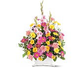 Spring Remembrance Basket in Trumbull CT, P.J.'s Garden Exchange Flower & Gift Shoppe