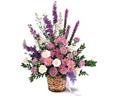 Lavender Reminder Basket in Milford MA, Francis Flowers, Inc.