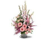 Hopeful Pink Basket in Nationwide MI, Wesley Berry Florist, Inc.