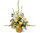 Vibrant Yellow Basket in Bakersfield CA, White Oaks Florist