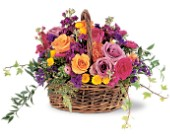 Garden Gathering Basket in Manalapan NJ, Rosie Posies