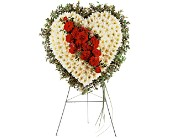 Tribute Heart in San Clemente CA, Funeral Flowers Funeral