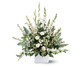 White Expressions Basket in Nationwide MI, Wesley Berry Florist, Inc.