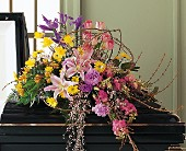 Eternal Spring Half-Couch Spray in Burlington NJ, Stein Your Florist