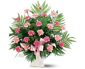Pink Carnation Sympathy Arrangement