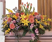Blooming Glory Casket Spray in Largo FL, Rose Garden Flowers & Gifts, Inc