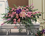 Triumphant Casket Spray in Manalapan NJ, Rosie Posies