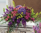 Graceful Tribute Casket Spray in Bellevue, Washington, Bellevue Crossroads Florist