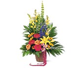 Celebration of Life Arrangement in Largo FL, Rose Garden Flowers & Gifts, Inc