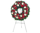 Hope and Honor Wreath in Nationwide MI, Wesley Berry Florist, Inc.