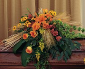 Autumn Faith Casket Spray in Fort Myers, Florida, Ft. Myers Express Floral & Gifts