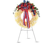 Patriotic Spirit Wreath in Norwalk CT, Bruce's Flowers & Greenhouses