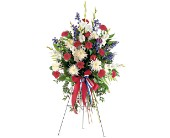 Patriotic Spirit Spray in Seattle WA, Hansen's Florist