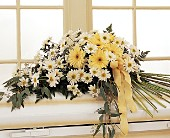 Drop of Sunshine Casket Spray in Watertown NY, Sherwood Florist