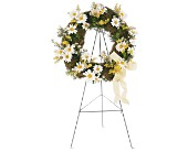 Drop of Sunshine Wreath in Nationwide MI, Wesley Berry Florist, Inc.