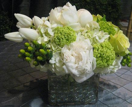 Go Green, Go White Bouquet in Washington DC, Greenworks By Shane