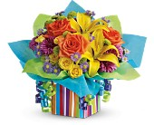 Teleflora's Rainbow Present in Prospect KY, Country Garden Florist