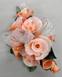 Orange Rose Corsage in Cerritos CA, The White Lotus Florist