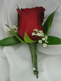 RED ROSE WITH B.B. BOUTONNIERE in Ossining NY, Rubrums Florist Ltd.