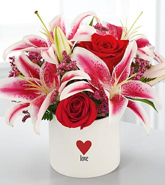 The FTD® Love and Romance™ Bouquet in Chicago, Illinois, Yera's Lake View Florist
