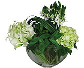 Green & White Gathering in New York NY, Fellan Florists Floral Galleria