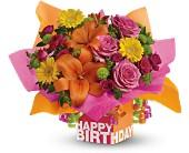 Teleflora's Rosy Birthday Present - Deluxe