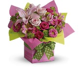 Teleflora's Pretty Pink Present in Aston PA, Wise Originals Florists & Gifts