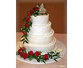 Ravishing Rubies Cake Topper in Shawnee, Oklahoma, Graves Floral