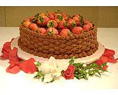 Ravishing Rubies Cake Collar in Shawnee, Oklahoma, Graves Floral