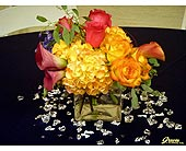 Jewel Tone Centerpiece 1 in Shawnee, Oklahoma, Graves Floral