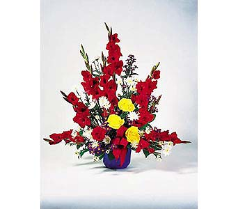 Red Gladiolus Arrangement in Toronto ON, Forest Hill Florist