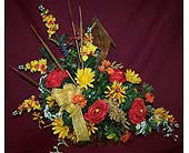 Custom made Silk Arrangement in Birdhouse Containe in Bedford IN, Bailey's Flowers & Gifts