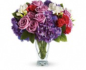 Teleflora's Rhapsody in Purple in Darlington WI, A Vintage Market Floral