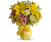 Teleflora's Sunny Smiles in Beaumont TX, Claybar Floral and Gift