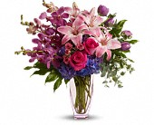 Teleflora's Purple Perfection in Islandia NY, Gina's Enchanted Flower Shoppe